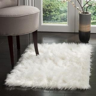 Safavieh Handmade Faux Sheepskin Ivory Japanese Acrylic Rug (2' 6 x 4')