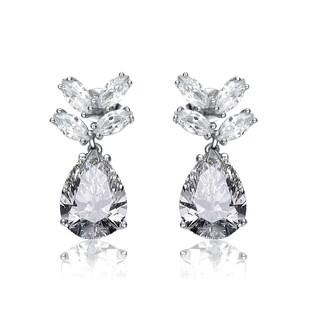 Collette Z Sterling Silver Cubic Zirconia Angel Earrings