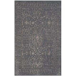 Safavieh Handmade Glamour Contemporary Steel/ Blue Viscose Rug (2' x 3')
