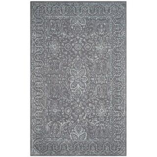 Safavieh Handmade Glamour Contemporary Opal/ Grey Viscose Rug (2' x 3')