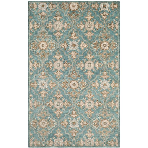 Safavieh Heritage Traditional Handmade Turquoise/ Multi Wool Rug - 2' x 3'