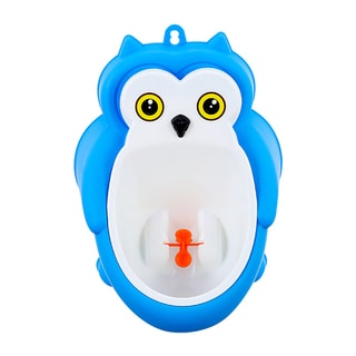 BH Baby Blue Owl Little Kids Potty Training Urinal with Drainage