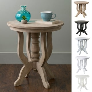 East At Main's Boyd Rubberwood Round Accent Table