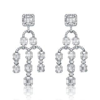 Collette Z Sterling Silver Cubic Zirconia Mini Chandelier Earrings