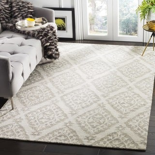 Safavieh Micro Loop Handmade Light Grey Wool Rug (2' 6 x 4')