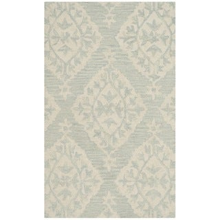 Safavieh Micro Loop Handmade Light Blue Wool Rug (2' 6 x 4')