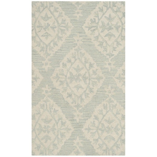 Safavieh Micro Loop Handmade Light Blue Wool Rug - 2'6 x 4'