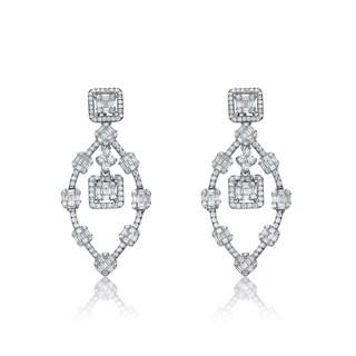Collette Z Sterling Silver Ring of Cubic Zirconia Earrings
