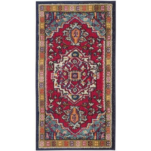 shop safavieh monaco oriental bohemian red turquoise rug 2 39 2 x 4 39 on sale free shipping. Black Bedroom Furniture Sets. Home Design Ideas