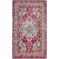 Safavieh Monaco Bohemian Medallion Pink/ Multicolored Distressed Rug (2' 2 x 4')