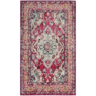 Safavieh Monaco Bohemian Medallion Pink/ Multicolored Distressed Rug - 2'2 x 4'