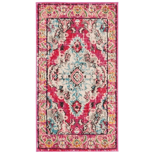 Shop Safavieh Monaco Bohemian Medallion Pink/ Multicolored