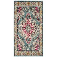 Safavieh Monaco Bohemian Medallion Light Blue/ Fuchsia Distressed Rug - 2'2 x 4'