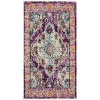 Safavieh Monaco Bohemian Medallion Violet/ Light Blue Distressed Rug (2' 2 x 4')