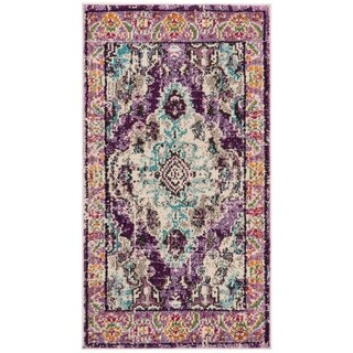 Safavieh Monaco Vintage Boho Medallion Violet/ Light Blue Rug - 2'2 x 4'
