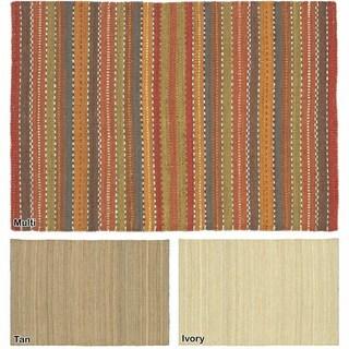 Artist's Loom Flatweave Contemporary Solid Pattern Jute Rug (9'x13')