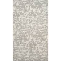 Safavieh Marbella Handmade Contemporary Light Grey/ Ivory Wool Rug - 2'3 x 4'
