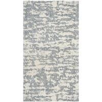 Safavieh Hand-Woven Marbella Flatweave Blue/ Ivory Chenille Rug (2' x 4')