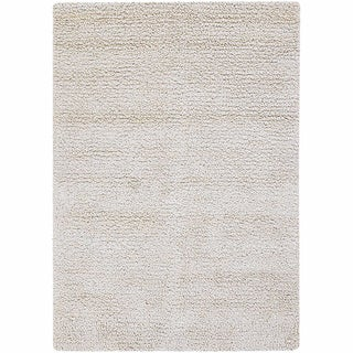 Artist's Loom Hand-Woven Contemporary Abstract Pattern New Zealand Wool Shag Rug (9'x13')