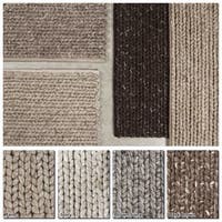"Artist's Loom Hand-Woven Contemporary Solid Pattern New Zealand Wool Shag Rug (7'9""x10'6"") - 7'9"" x 10'6"""