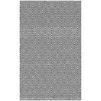 Safavieh Montauk Handmade Geometric Flatweave Ivory/ Navy Cotton Rug - 2'6 x 4'