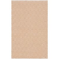 Safavieh Montauk Handmade Geometric Flatweave Ivory/ Rust Cotton Rug - 2'6 x 4'