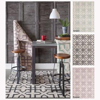 Artist's Loom Flatweave Contemporary Geometric Pattern Wool Rug (7'x10')