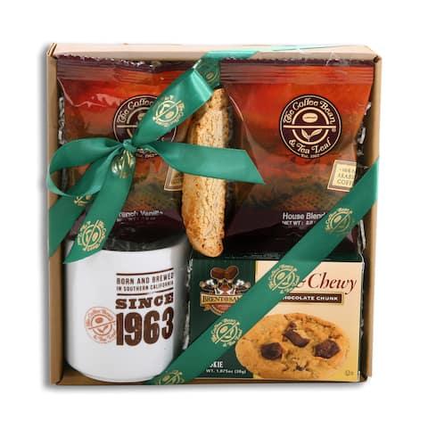 Alder Creek Gift Baskets Coffee Bean and Tea Leaf Gift Box