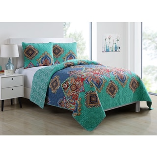 VCNY Global Bazaar Reversible 3 Piece Quilt Set