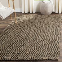 Safavieh Natural Fiber Diamond Weave Handmade Natural/ Black Jute Rug - 2'3 x 4'