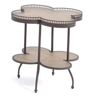 Clementine Scalloped End Table