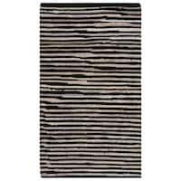 Safavieh Hand-Woven Rag Cotton Rug Black/ Multicolored Cotton Rug - 2'6 x 4'