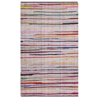 Safavieh Rag Cotton Rug Bohemian Handmade Ivory/ Multi Cotton Rug (2' 6 x 4')