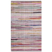 Safavieh Rag Cotton Rug Bohemian Handmade Ivory/ Multi Cotton Rug - 2'6 x 4'