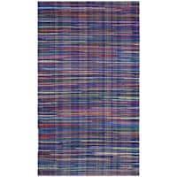 Safavieh Rag Cotton Rug Bohemian Handmade Blue/ Multi Cotton Rug - 2'6 x 4'