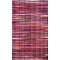 Safavieh Rag Cotton Rug Bohemian Handmade Red/ Multi Cotton Rug - 2'6 x 4'