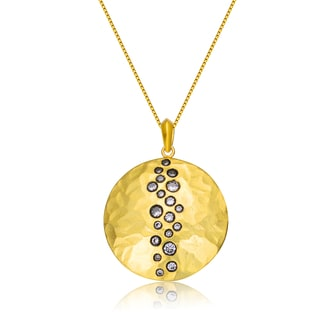 Collette Z Gold Overlay Cubic Zirconia Tiny Circles Necklace