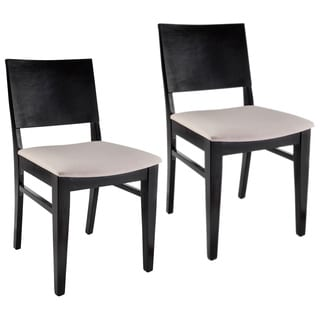Copenhagen Black Wood Dining Chairs (Set of 2)