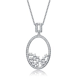 Collette Z Sterling Silver Cubic Zirconia Snow Globe Necklace