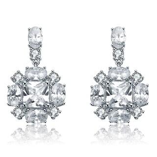 Collette Z Sterling Silver Cubic Zirconia Snowflake Earrings