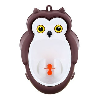 BH Baby Brown Plastic Owl Potty Training Urinal with Drainage