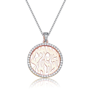 Collette Z Sterling Silver Cubic Zirconia Shema Pendant Necklace