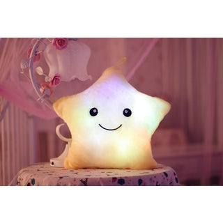 The Illuminator Yellow Star Cotton Color-changing LED Light-up Plush Pillow