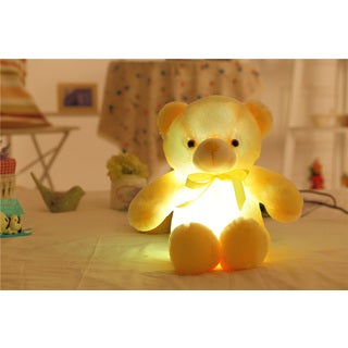 Yelliw Cotton Teddy Bear Color Changing LED Plush Pillow