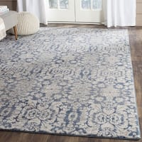 Safavieh Sofia Vintage Damask Blue/ Beige Distressed Rug (2' x 3')