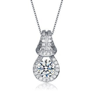 Collette Z Sterling Silver Cubic Zirconia Elegant Necklace