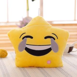 'Tears of Joy Emoji' Yellow Color-changing LED Plush Pillow