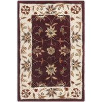 Safavieh Hand Hooked Total Performance Red/ Ivory Rug - 2' X 3'