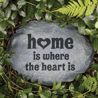 'Home Is Where The Heart Is' Garden Stone