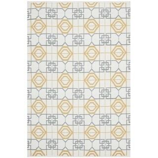 Safavieh Hand-Knotted Thom Filicia Beige/ Grey Wool Rug (2'6 x 4')